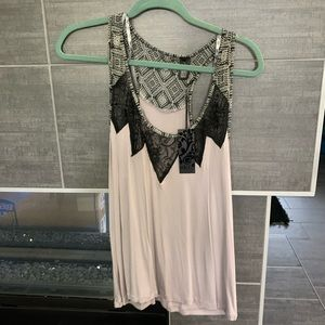 NWT BKE Boutique Lace tank top